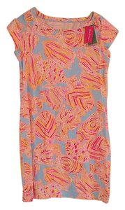 Lilly Pulitzer short dress Light blue, pink, coral on Tradesy