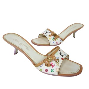 Louis Vuitton Monogram Chanel Gucci Studded Charm White Pumps