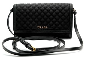 Prada Wallet Cross Body Quilted Clutch 1mt437 Shoulder Bag