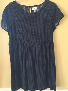 Old Navy short dress Blue and Black Plaid Empire Waist on Tradesy