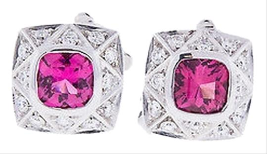 Other Asprey,18k,White,Gold,Apx,0.48,Ct,Pink,Tourmaline,Huggie,Earrings