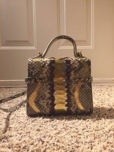 MarieElie Snakeskin Cross Body Bag
