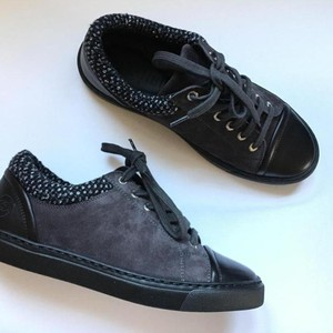 Chanel Sneakers Low Top Size 40 Grey Boots