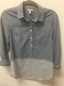 J.Crew Top Blue/Gingham