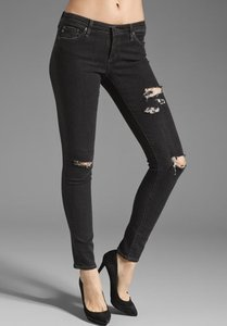 AG Adriano Goldschmied Distressed Edgy Rips Skinnies Skinny Jeans-Distressed