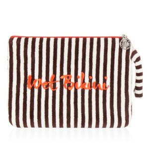 Henri Bendel New Henri Bendel Strip & Dots Large Pouch Bikini Bag Wristlet