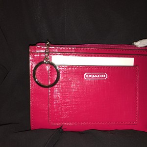 Coach Darcy Med Sknny Wallet&keychain F49966 Wristlet in Red