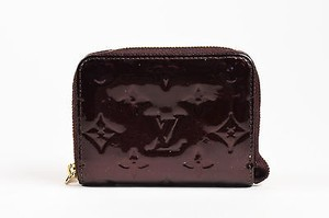 Louis Vuitton Louis Vuitton Maroon Vernis Patent Leather Monogram Zippy Compact Wallet