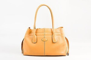Tod's Tods Pebbled Leather Tote in Tan