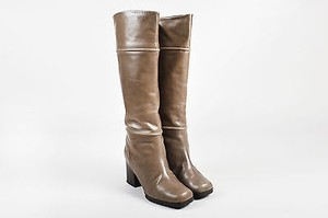 Marni Leather Chunky Gray Boots