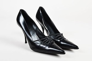 Prada Leather Pointed Black Pumps