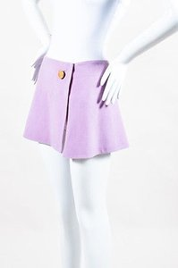 Isaac Mizrahi Lavender Wool Skirt Purple