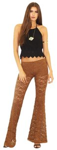 Nightcap Bell Gypsy Lace Super Flare Pants Tobacco