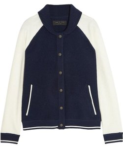 Rag & Bone Intermix Vince Theory Navy/White Jacket