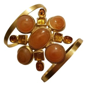 Chanel Chanel Cuff Bracelet Amber Gripoix Professionally Authenticated