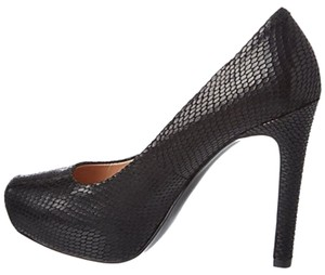 Pour La Victoire Black Snake Leather Platforms