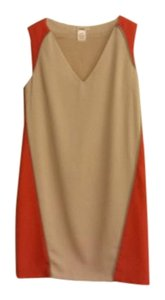 Esley short dress Tan and Orange on Tradesy