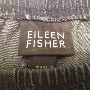 Eileen Fisher Size M Made In Usa Capri/Cropped Denim-Medium Wash