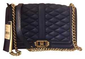 Rebecca Minkoff Leather Quilted Leather Cross Body Bag