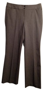 Ann Taylor LOFT Size 14 Julie Boot Cut Trouser Pants Gray Houndstooth