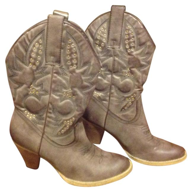 Item - Taupe / Tan Western Style Like New. Boots/Booties Size US 9 Regular (M, B)