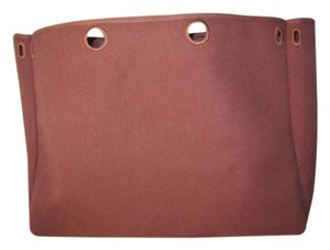 Hermès Canvas Bordeaux Her Spare Shoulder Bag