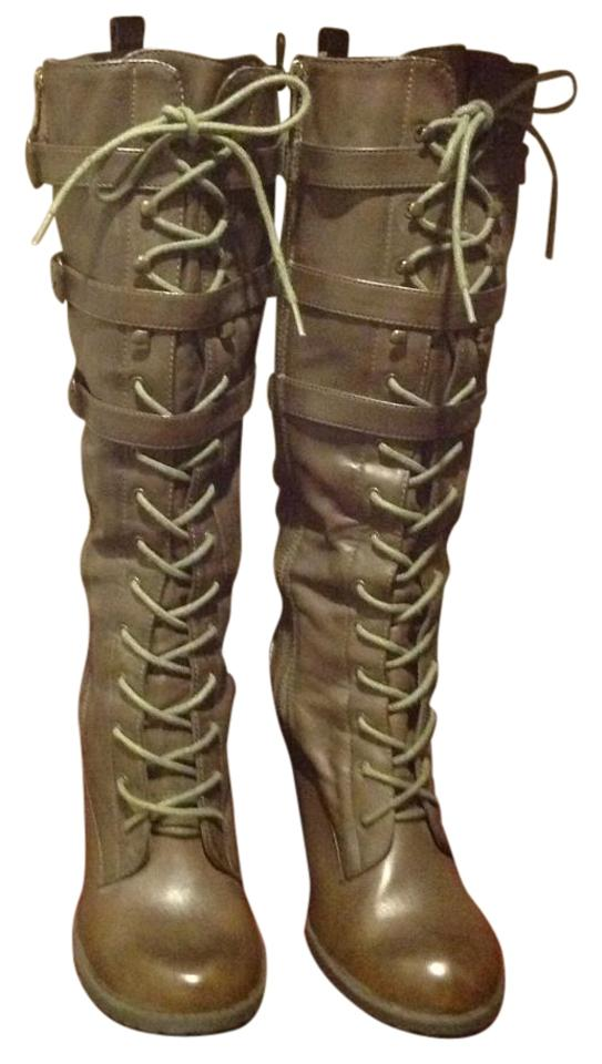80c42ff1b3d MIA Brown Ursula Lace Up Front Double Sided Zipper Boot..like New ...