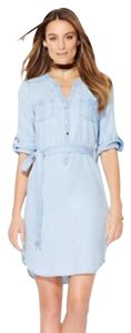 New York & Company short dress Light chambray on Tradesy