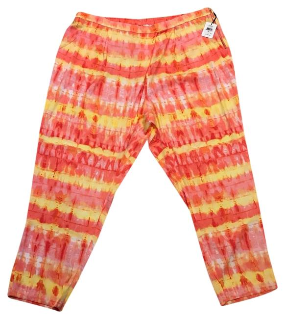 Item - Pink Orange Yellow Pastel Polyester Pants Size 22 (Plus 2x)