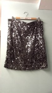 modern metallics Skirt black