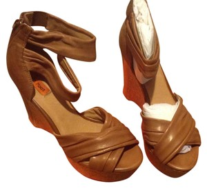 Miz Mooz New In Box Leather Uppers Beige Beige, leather Wedges