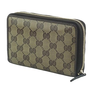 Gucci Gucci 420113 GG Guccissima Crystal Coated Canvas Zip Around Wallet