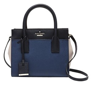 Kate Spade Cameron Street Mini Candace Satchel in ocean blue/off shore/crisp linen