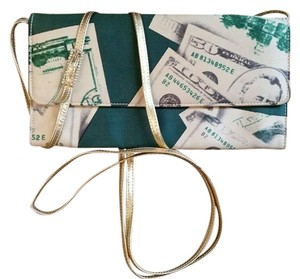 Dolce&Gabbana D&g Dolce & Gabbana Evening Money Print Italy Shoulder Bag