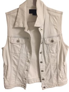 Vince Distressed Moto Vest