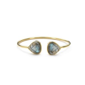 Margaret Elizabeth Teardrop Bangle Labradorite