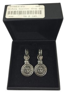 Versace Clip On Earrings Hanging Tote in Silver