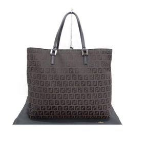 Fendi Zucca Tote in Dark Brown