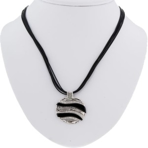Roberto Coin Roberto,Coin,18k,White,Gold,Black,Onyx,Diamond,Elephantino,Necklace