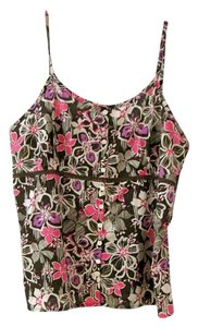 Eddie Bauer Delicate Feminine Floral Top Multi - pinks, browns, whites & purple