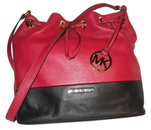 Michael Kors Leather Crossbody Hobo Shoulder Bag