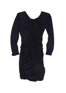 Emilio Pucci short dress Black Ruched Long Sleeve on Tradesy