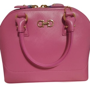 Salvatore Ferragamo Satchel in Fuchsia, blend of pink and purple