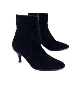 Aquatalia by Marvin K. Black Suede Pointed Toe Boots