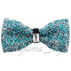 Rhinstone Turquoise Blue Crystal Diamond Style Pre Tied Bow Tie