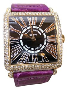 Franck Muller Franck Muller Master Square Diamond 18K Rose Gold 6002 M watch