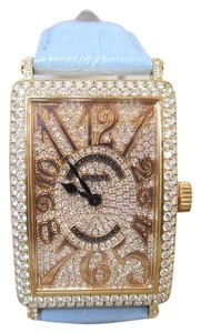 Franck Muller Franck Muller Diamond Long Island Automatic Alligator Watch