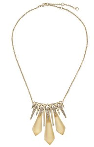 Alexis Bittar Alexis Bittar Crystal Encrusted Gold Lucite Spike Necklace