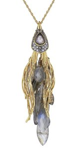 Alexis Bittar Alexis Bittar Labradorite Crystal Starling Long Necklace