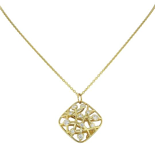 Hearts on Fire Hearts,On,Fire,Hfpbrs00558y,18k,Gold,Diamonds,Brocade,Square,Pendant,Necklace